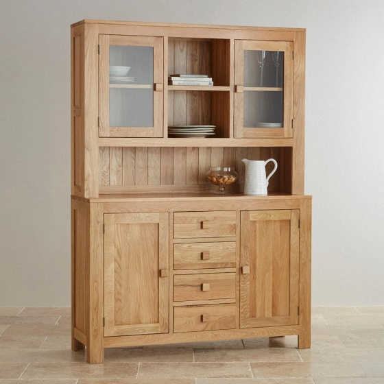 Tủ bếp lớn Capri gỗ sồi 1m4 - Cozino