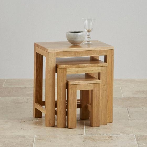 Bộ bàn xếp chồng Capri gỗ sồi – Cozino