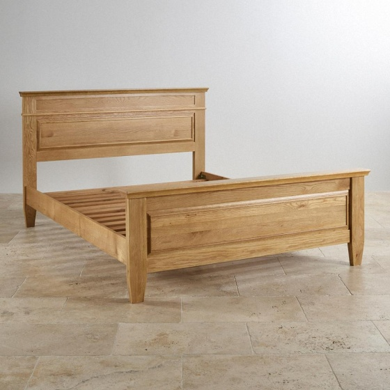Giường đôi Holy gỗ sồi 1m6 - Cozino