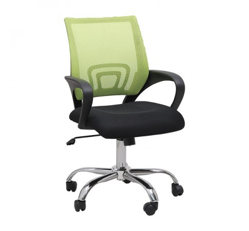 Ghế lưới văn phòng CZN502 chân thép mạ màu xanh lá - COZINO