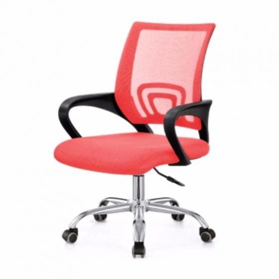 Ghế lưới văn phòng CZN502 chân thép mạ màu đỏ - COZINO