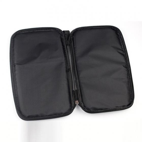 Bao đựng vợt, túi đựng vợt bóng bàn HUI 2 ngăn chữ nhật; bảo vệ vợt; chất liệu cao cấp POPO Collection (Bạc)