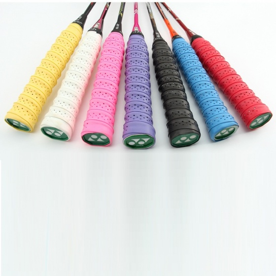 Cuốn cán vợt cầu lông có gân chống trơn - bộ 10 cái - thoáng khí thoát mồ hôi POPO Collection (Xanh chuối)