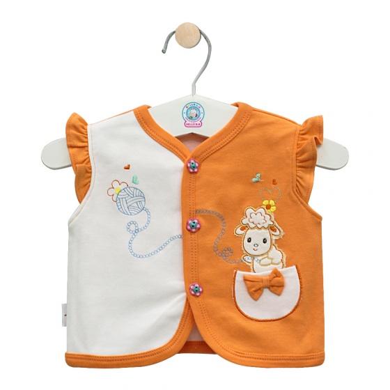 Áo ghilê màu - AN0333 - Size 1, 2  ( Cam ) - HELLO B&B