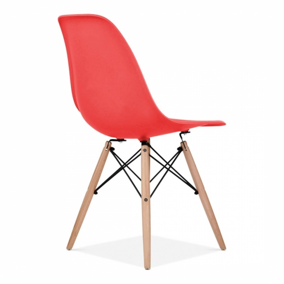 Ghế CZN-Eames màu đỏ chân gỗ - COZINO