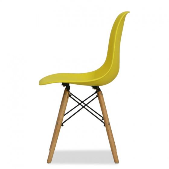 Ghế CZN-Eames màu vàng chân gỗ - COZINO