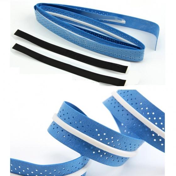 Cuốn cán vợt cầu lông có gân chống trơn - bộ 10 cái - thoáng khí thoát mồ hôi POPO Collection (Vàng)