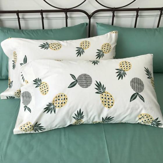 Bộ chăn ga gối Cotton 100% CZN 02 - Pineapple - Cozino