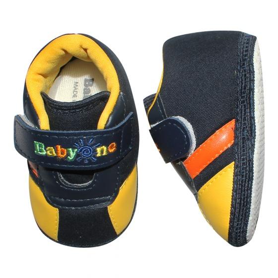 Giày tập đi bé trai BabyOne SS0819 - HELLO B&B - Size 17,18 (Màu đen)