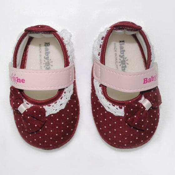 Giày tập đi bé gái BabyOne SS0823 - HELLO B&B - Size 17,18 (Đỏ đô)