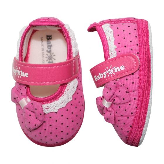 Giày tập đi bé gái BabyOne SS0823 - HELLO B&B - Size 17,18 (Màu hồng)