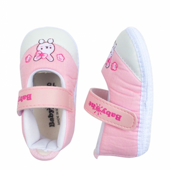 Giày tập đi bé gái BabyOne SS0824 - HELLO B&B - Size 17,18 (Màu hồng)