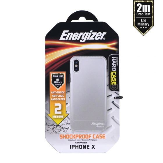 Ốp lưng trong suốt Energizer chống sốc 2m cho iPhone X - ENCOSPIP8TR