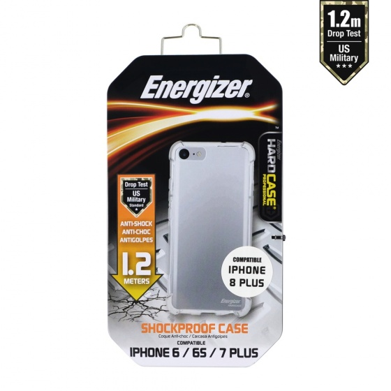 Ốp lưng trong suốt Energizer chống sốc 1.2m cho iPhone 6/7/8 Plus - ENCMA12IP7PTR