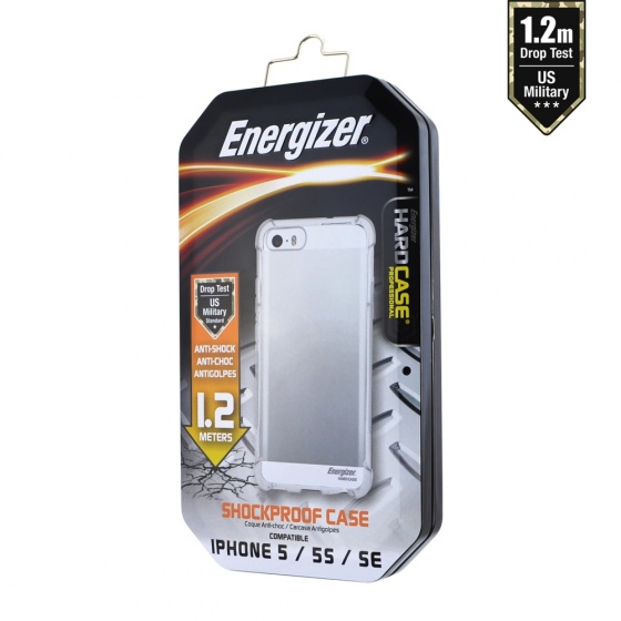 Ốp lưng trong suốt Energizer chống sốc 1.2m cho iPhone 5/5S - ENCMA12IP5TR