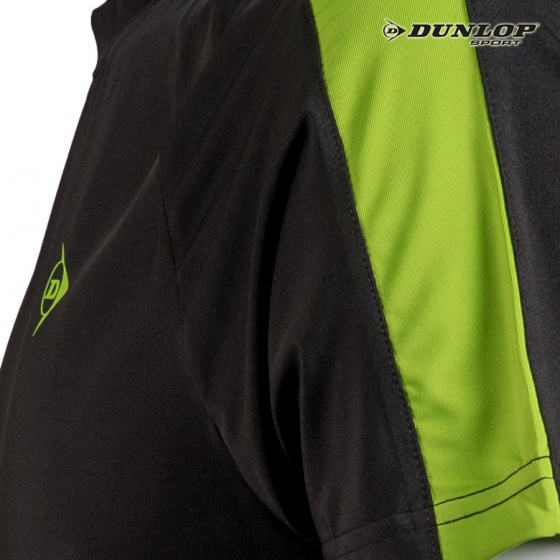 Áo cầu lông nam Dunlop - DABAS8030-1-BK (Đen)