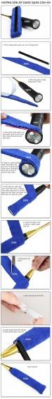 Quấn cán vải tennis (1 cái) thoáng khí, thoát mồ hôi POPO Collection (Vàng)