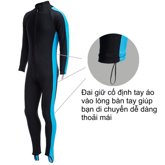 Quần áo lặn biển chống nắng, 1mm dài tay nữ - vàng, cản tia UV POPO Collection  (Vàng)