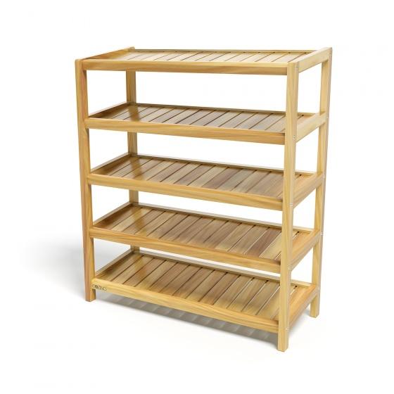 Kệ giày dép CZN573 gỗ cao su màu tự nhiên (5 tầng 73 x 30 x 86 cm) - COZINO