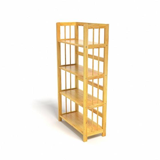 Kệ sách 4 tầng CZN463 gỗ cao su màu tự nhiên (63x30x120cm) - COZINO