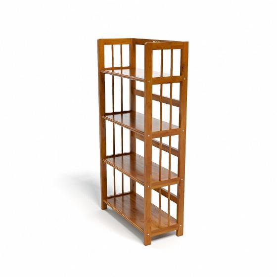 Kệ sách 4 tầng CZN463 gỗ cao su màu cánh gián (63x30x120cm) - COZINO