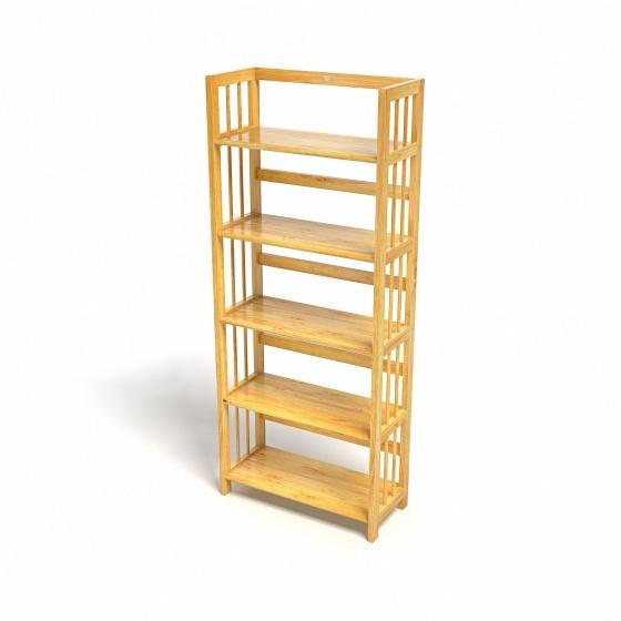 Kệ sách 5 tầng CZN563 gỗ cao su màu tự nhiên (63x30x150cm) - COZINO