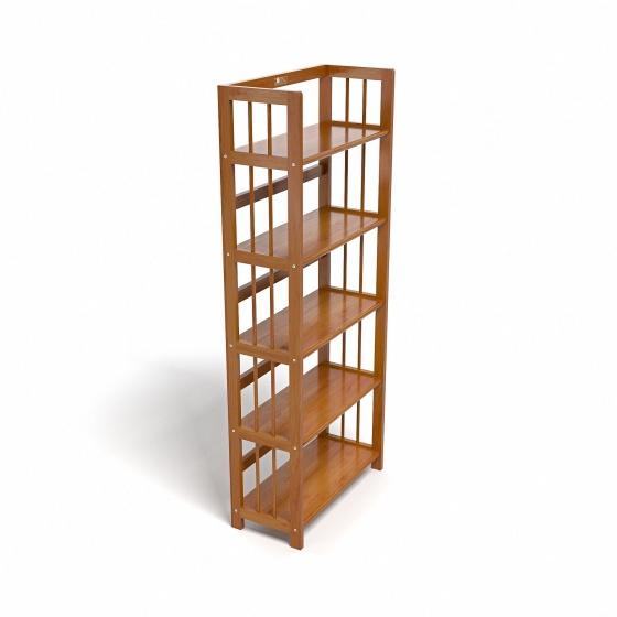 Kệ sách 5 tầng CZN563 gỗ cao su màu cánh gián (63x30x150cm) - COZINO