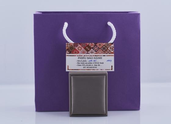 Opal- Set mặt kèm dây và hoa tai bạc đính ngọc ốc _T05