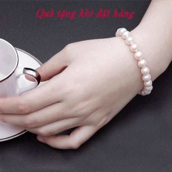 Opal- Dây chuyền bạc kết hợp ngọc ốc _T05