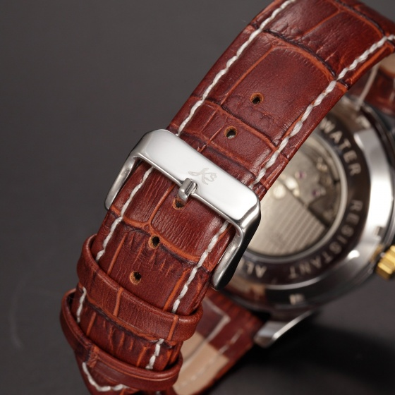 Đồng hồ đức Kronen & Sohne cơ tự động da thật MW32