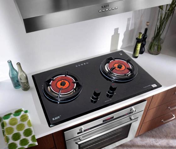 Bếp gas âm hồng ngoại KAFF KF-208I + Tặng máy hút mùi nhà bếp cổ điển 7 tấc KAFF