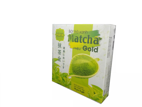 Bột trà xanh matcha hiệu Gold (5gói x 10g) [QC-Vneshop]