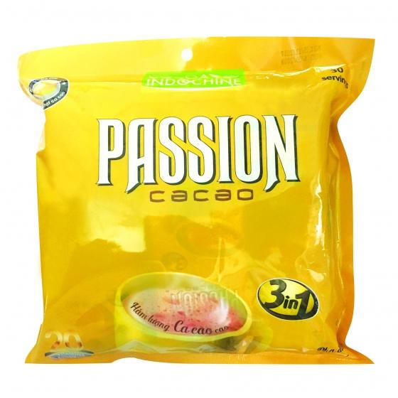 Bột cacao Passion  3 in 1 (30 gói x 16g) (Túi nhựa) [QC-Vneshop]