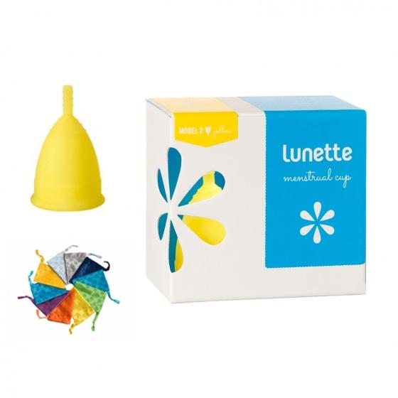 Bộ cốc nguyệt san Lunette, nhập khẩu chính hãng (màu vàng, size 2 + nước rửa 100 ml)