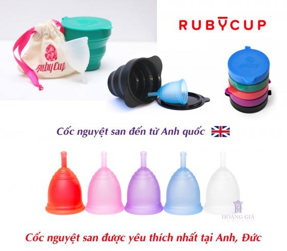Cốc nguyệt san Ruby Cup - Nhập khẩu chính hãng từ Anh (màu tím, size S)