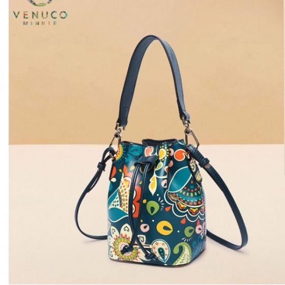 Túi bucket mini Venuco Madrid S364 màu xanh lá