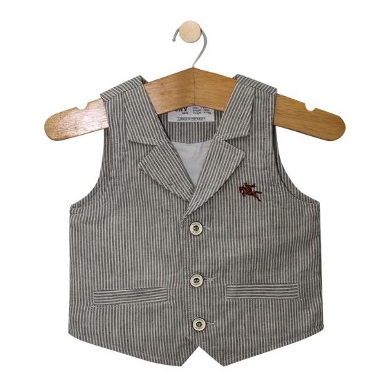 Vest cổ bẻ 55402 - VEST5402 - Size 1- 6 YEARS (Sọc màu ngẫu nhiên) - Tony Boys