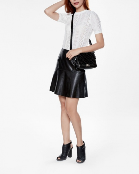 Mimi - Chân váy da đen