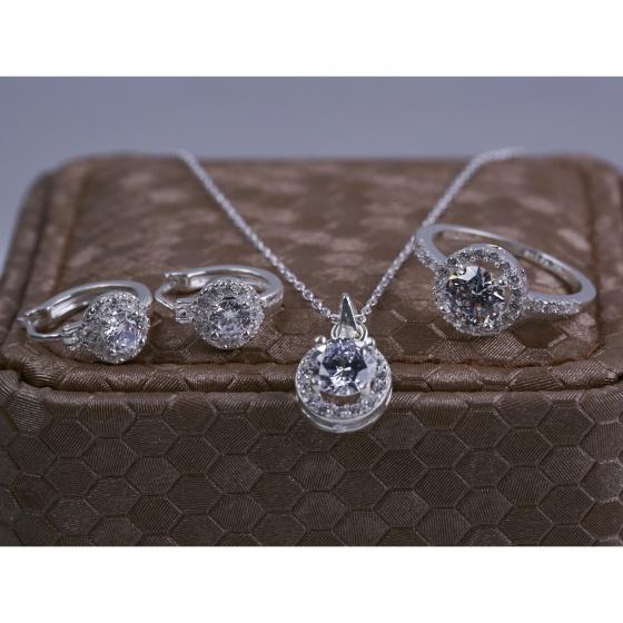 Opal - Bộ trang sức bạc hoa mặt trời _T05