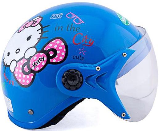 Mũ bảo hiểm trẻ em Hello cao cấp ( Xanh)