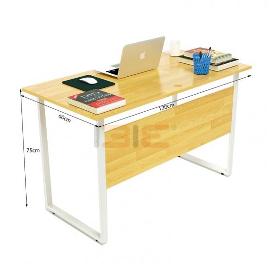 Bộ bàn Rec-F Plus chân trắng màu tự nhiên và ghế IB505 - IBIE