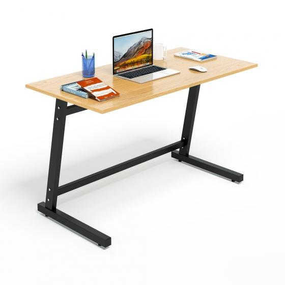 Bộ bàn làm việc CZN-Pisa gỗ cao su veneer sồi chân đen và ghế eames đen  - COZINO