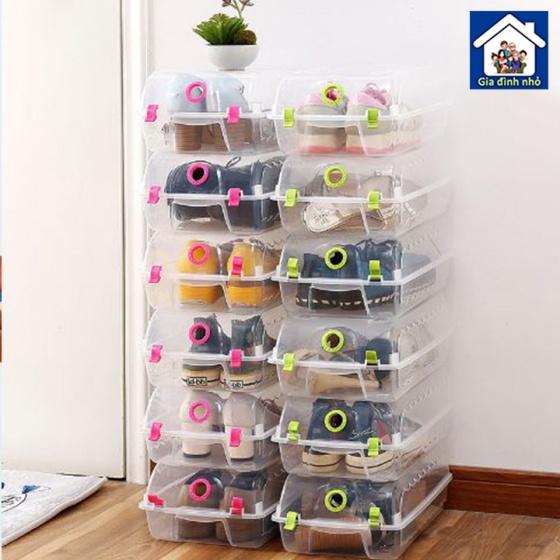Combo 6 hộp nhựa đựng đồ đa năng - hộp đựng giày hộp đựng quần áo