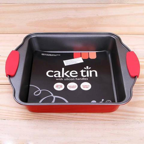 Khay nướng bánh hình vuông có tay cầm silicon UBL KC0293