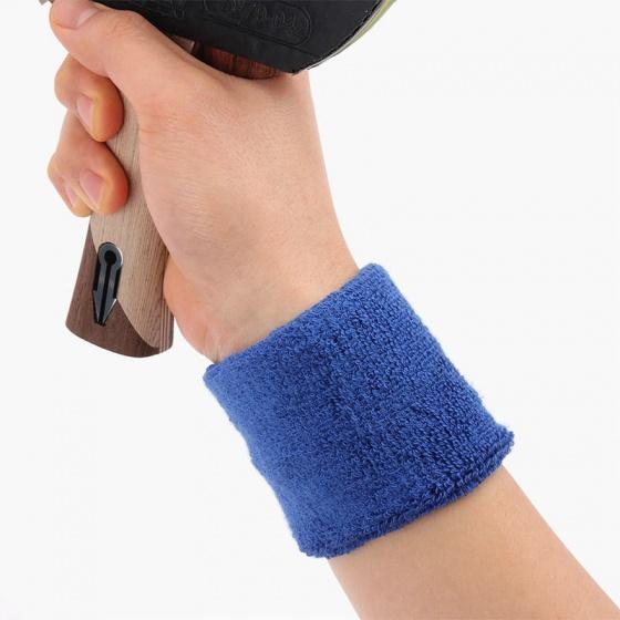 Băng cổ tay thể thao nữ thoáng khí bộ 2 cái (blue) thấm mồ hôi, mềm mại, bảo vệ cổ tay