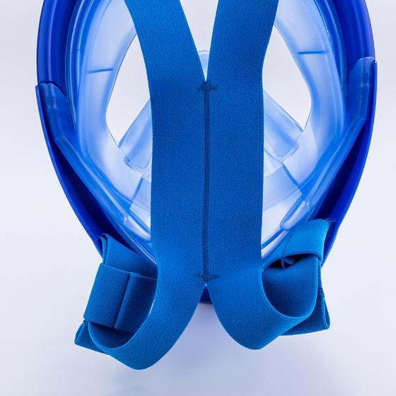 Mặt nạ lặn Full Face size M mắt kính cường lực, gắn được gopro,sjcam tầm nhìn 180 độ POPO Collection (Xanh biển-169)