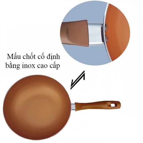 Bộ 1 nồi 1 chảo đáy từ tráng men Ceramic cao cấp