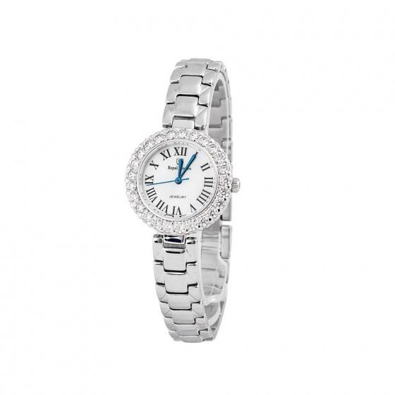 Combo 2sp đồng hồ nữ chính hãng Royal Crown 6305 dây thép và 3628 dây da đỏ
