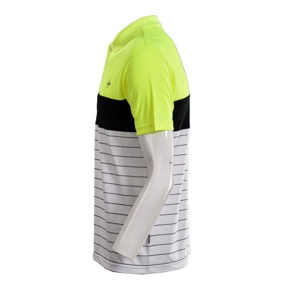 Áo cầu lông nam Dunlop - DABAS8068-1C-WT (Trắng vàng)