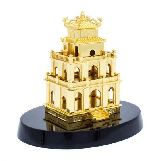 Biểu tượng tháp rùa Hà Nội mạ vàng - TRHN01